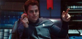 Kirk destroying the Klingon ships with a finger gun